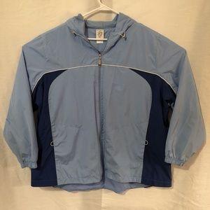 JMS Plus Size 22W 24W Jacket Zip Up Blue